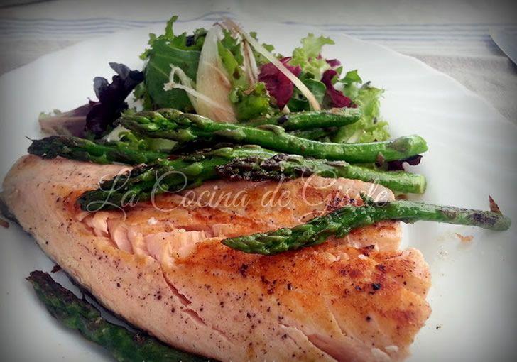 Salmon light a la plancha