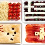 Flags made with the typical foods of their countries